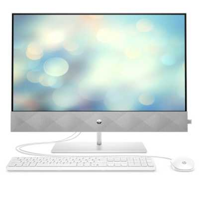 "Моноблок HP Pavilion All-in-One 24-k0007ur NT 23,8"" FHD(1920x1080) AMD Ryzen3-4300U, 8GB DDR4 3200 (1x8GB), SSD 256Gb, AMD Integrated Graphics, no DVD, kbd&mouse wired, 5MP Webcam, White, Win10, 1Y Wty (14Q28EA)"