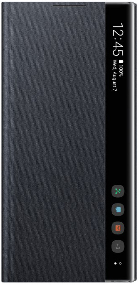 Чехол-книжка Samsung Clear View Cover для Galaxy Note10, черный EF-ZN970CBEGRU