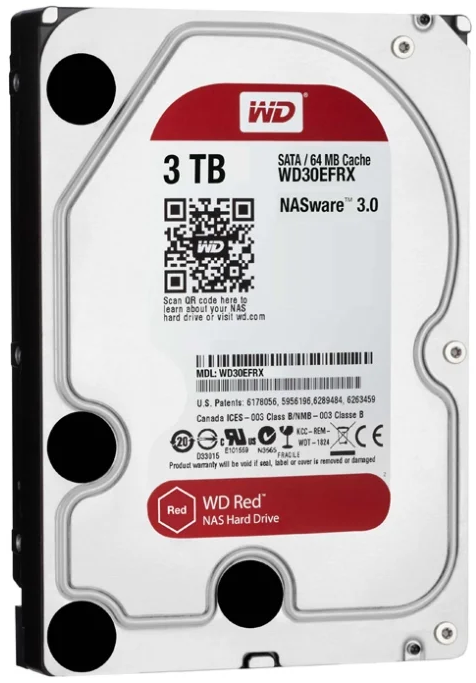 Жесткий диск 3Tb SATA-III Western Digital Red (WD30EFAX)
