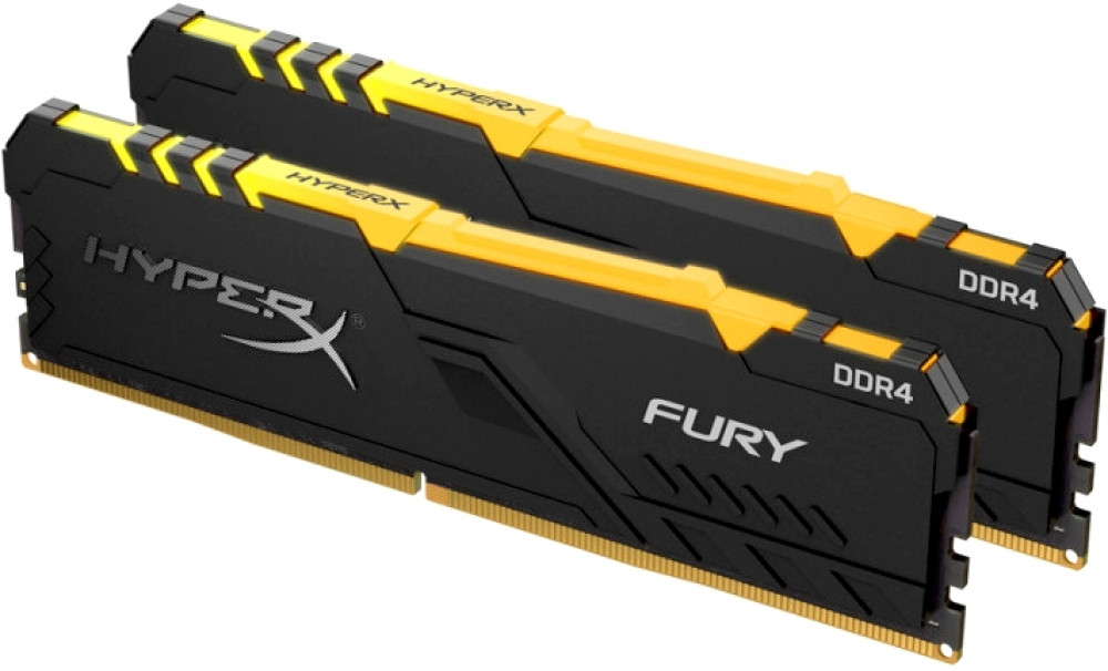 Оперативная память 16Gb DDR4 3466MHz Kingston HyperX Fury RGB (HX434C16FB3AK2/16) (2x8Gb KIT)