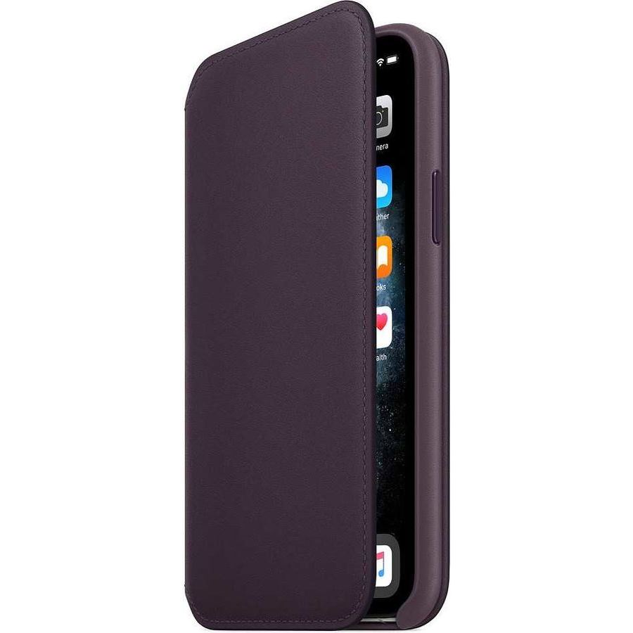 Чехол-книжка Apple для iPhone 11 Pro Max Leather Folio, «спелый баклажан» MX092ZM/A